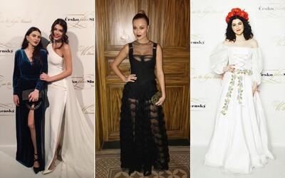 V jakých róbách celebrity zazářily na Česko-Slovenském plesu?
