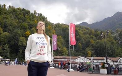V kampani mala na sebe sveter s odkazom, že nedopuje. Teraz je druhým ruským olympijským hriešnikom