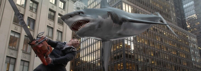 V najnovšom Sharknade budeme cestovať časom, bojovať proti dinosaurom, Hitlerovi a zvezieme sa aj na Noemovej arche