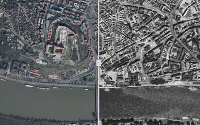 V novej apke môžeš porovnať, ako sa zmenili štvrte Bratislavy od 60. rokov