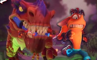 V nových levelech hry Crash Bandicoot 4 nás bude honit i dinosaurus. Hra vypadá úžasně
