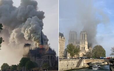 V Paříži hoří Notre Dame