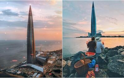 V Petrohradě vyrostl nejvyšší evropský mrakodrap. Točitá budova disponuje planetáriem nebo amfiteátrem