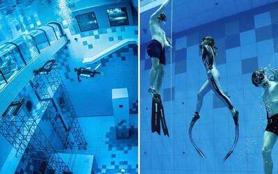 V Polsku otevřeli nejhlubší potápěčský bazén na světě. Na jeho dně najdeš i repliku vraku lodě