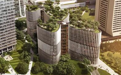 V Praze na Pankráci vyroste budova pohlcující smog. Unikátní projekt bude disponovat i parkem na střeše se vzrostlými stromy