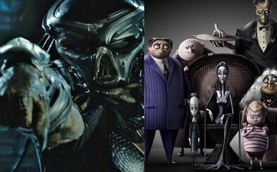 V Predátorovi uvidíme neznáme mimozemské rasy. Tvorcovia Sausage Party zase chystajú novú verziu Rodiny Addamsovcov