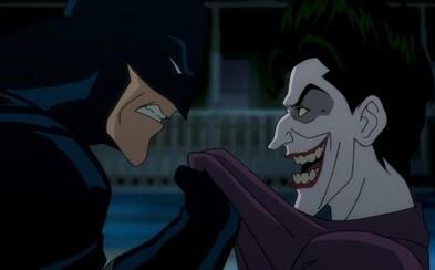 V prvej scéne z brutálneho Killing Joke Batman prichádza na Jokerov plán úniku