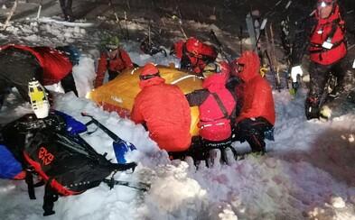 V rakouských Alpách zachránili muže, kterého zavalila lavina. Pod sněhem byl 5 hodin