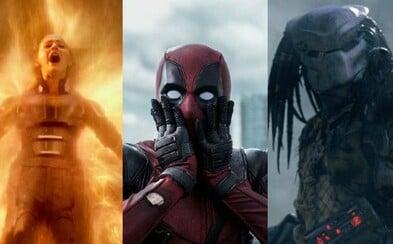 V roku 2018 uvidíme X-Men: Dark Phoenix, Deadpoola 2, New Mutants, Predatora a mnohé ďalšie očakávané bomby od štúdia Fox