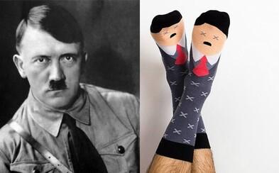 V šatníku prý nastolují řád. Polská firma prodává ponožky, které vypadají jako Hitler