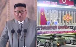 V Severnej Kórei bola nezvyčajná nočná vojenská prehliadka. Kim Čong-un predviedol nové rakety