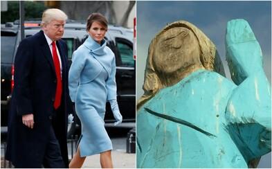 Ve Slovinsku vytvořili sochu Melanie Trump, připomíná Šmoulinku. Dílo vyvolalo smíšené reakce