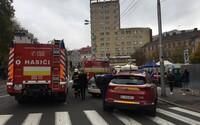 V Starej tržnici v centre Bratislavy horelo