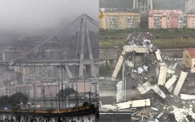 V Taliansku sa náhle zrútil diaľničný most. Autá padali z obrovskej výšky do priepasti, ktorá sa otvorila pod nimi