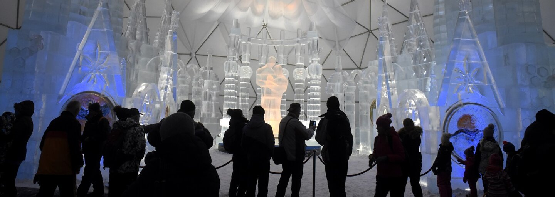 V Tatrách majú najväčšiu atrakciu zimnej sezóny. Veľkolepý dóm vytvorili zo 190 ton ľadu