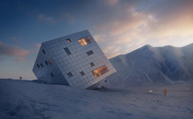 V Tatrách postavia úchvatnú a modernú Kežmarskú chatu. Pripomínať má kocku ľadu a postará sa o ňu štúdio z Česka