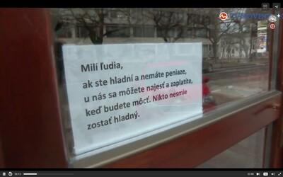 V této bratislavské restauraci se můžeš najíst i bez peněz. Majitel podniku bídu zažil na vlastní kůži a teď pomáhá ostatním
