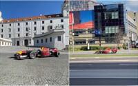 V uliciach Bratislavy sa premáva formula, v ktorej jazdil aj Sebastian Vettel. Uzavreli mesto, driftovala aj na hrade