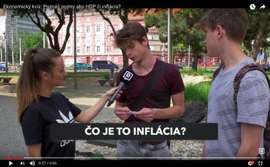 V uliciach sme zisťovali, ako sú na tom Slováci s vedomosťami o ekonómii. Rozumejú pojmom ako HDP, inflácia či druhý dôchodkový pilier?