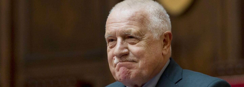 Václav Klaus je hospitalizován ve vojenské nemocnici