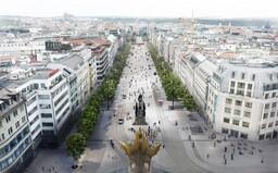 Václavské náměstí se změní. Architekti odhalili vizualizaci, která počítá s tramvajemi i místy pro odpočinek