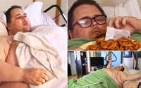 Váží 382 kilogramů a ve fitness reality show místo hubnutí přibral. James už přežil i několik infarktů