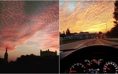 Včerajšia obloha si podmanila celý Instagram. Slováci sa snažili zachytiť nezvyčajný prírodný úkaz čo najlepšie