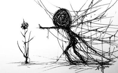 Vďaka svojim kresbám upozorňuje na problémy ľudí trpiacich duševnými chorobami. Aj jemu umenie pomohlo postaviť sa na nohy