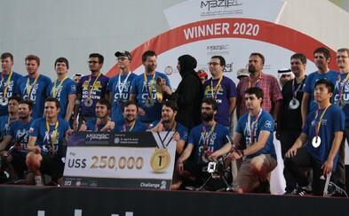 Vědci z ČVUT vyhráli celosvětovou soutěž dronů v Abú Dhabí. Získali prestižní ocenění a 5,8 milionu korun