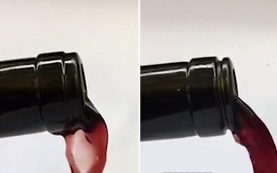 Vedec vymyslel fľašu na víno, vďaka ktorej vzácny mok už nikdy neporozlievaš kvôli kvapkám stekajúcim po jej hrdle. Trojročná práca žne úspechy
