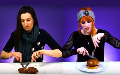 Vegetariánky po letech poprvé ochutnaly maso. Většinu jídel vyplivly, ale některá si zamilovaly