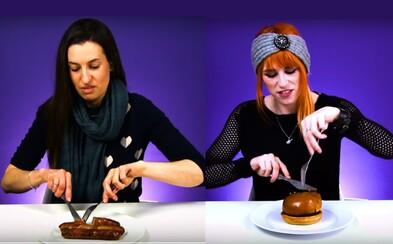 Vegetariánky po rokoch prvýkrát ochutnali mäso. Väčšinu jedla vypľuli, no niektoré si zamilovali