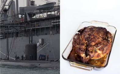 Velitel jaderné ponorky přišel do práce opilý a s grilovaným kuřetem. Měl na starosti bomby 30krát silnější než hirošimské