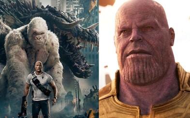 Veľkolepá Thanosova vojna či Besnenie Dwayna Johnsona v zábavnom blockbusteri. Toto je 10 najočakávanejších aprílových filmov v kinách