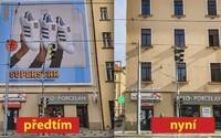 Velkoplošné reklamy přes fasády domů v Praze končí. Magistrát je zakázal v této zóně