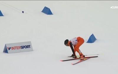 Venezuelský lyžař svými pády bavil celé lyžařské MS. Stál totiž na lyžích poprvé v životě