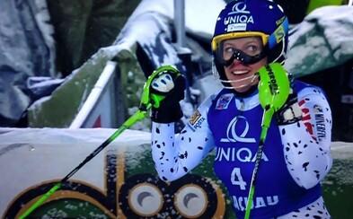 Veronika Velez-Zuzulová skončila v Jasnej v slalome na skvelom treťom mieste!