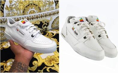 Versace navrhlo tenisky, ktoré kopírujú vzhľad ikonických Apple sneakers z roku 1986