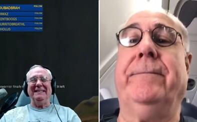 Veselý dôchodca pravidelne natáča a streamuje hry. Pred tisíckami divákov si rád zanadáva a jeho obľúbenou hrou je PUBG