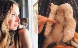 Veverička Willa bola podvýživená a oslepla na jedno oko. Jej opatrovateľka zdieľa na Instagrame ich spoločné zážitky