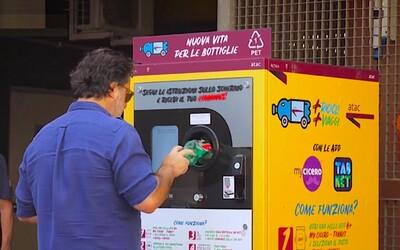 Vhodíš PET lahve, dostaneš jízdenku. V Římě zavádí netradiční způsob placení za MHD