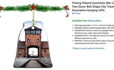 Vánoční ozdoby s fotografiemi Osvětimi? Amazon musel stáhnout kontroverzní produkty