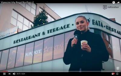 Vianočné trhy plné dobrôt ukryté na streche s výhľadom na celú Bratislavu. Toto musíš skúsiť! (Video)