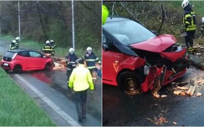Víchrica poriadne potrápila Bratislavu a okolie. Padali stromy, ktoré ničili autá, hasiči zasahovali 22-krát
