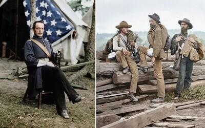 Videli ste už kolorizované zábery z Americkej občianskej vojny? Nájdete na nich slávnych generálov i obyčajných zajatcov