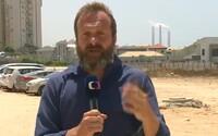 VIDEO: Během vstupu reportéra ČT z Izraele proběhl raketový útok