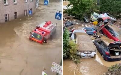 VIDEO: Devastačné záplavy zabili v Nemecku už viac ako 40 ľudí. Státisícové mesto v Belgicku posiela všetkých ľudí preč