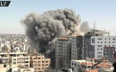 VIDEO: Izrael odpálil budovu v pásmu Gazy, v níž sídlila zahraniční média