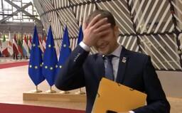 """VIDEO: Matovič si spravil hanbu v živom vysielaní z Bruselu. """"Can I go one time? Next time,"""" pýtal si opakovaný pokus"""