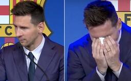 VIDEO: Messi se se slzami v očích loučí s FC Barcelonou. Doufá, že se jednou vrátí